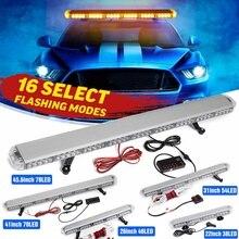 "22"" to 45.6"" Car Led Strobe Flash Warning Light Bar Roof Beacon Flashing Emergency Trucks Beacons Trailer  Engineering vehicle"
