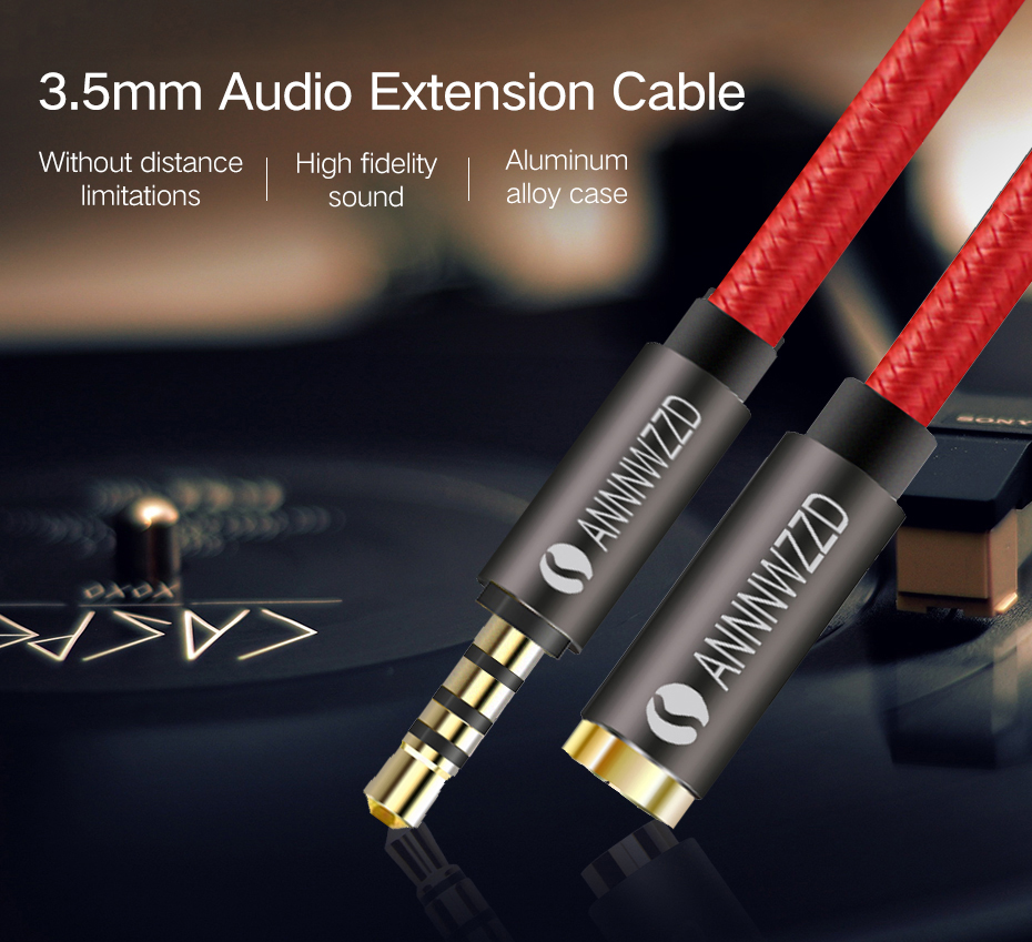 3 5mm Jack male TO 3 5mm Female Aux Extension Cable Audio Cable Headphone Extension Cable Cord for Computer