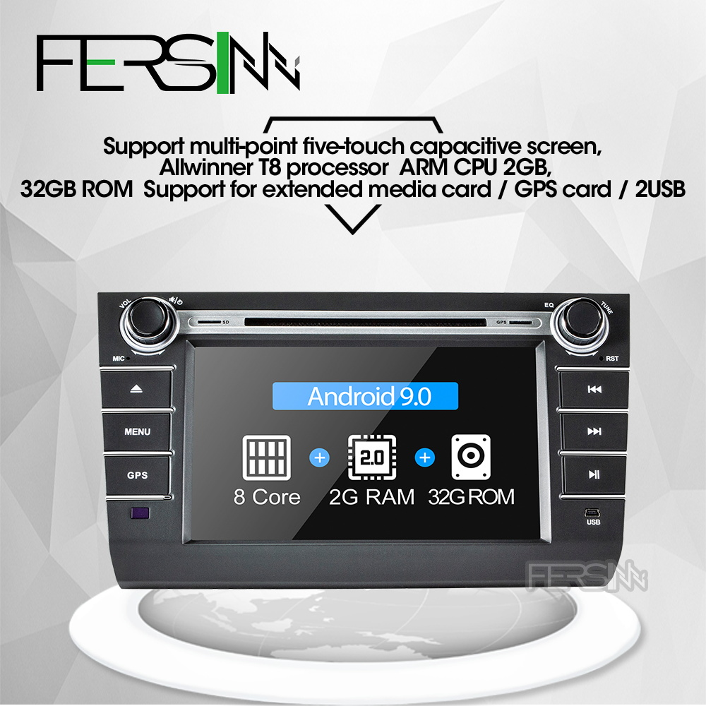 Fersinny <font><b>android</b></font> 9.0 car dvd for <font><b>Suzuki</b></font> <font><b>Swift</b></font> 2004 2005 2006 2007 <font><b>2008</b></font> 2009 2010 dvd player navigation image