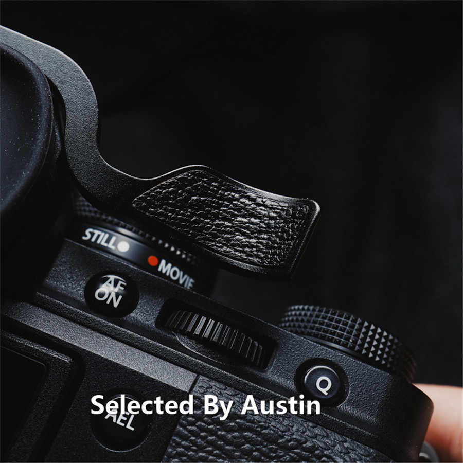 Haoge THB-XT4B Metal Hot Shoe Thumb Up Rest Hand Grip for Fujifilm Fuji X-T1 X-T2 X-T3 X-T4 XT1 XT2 XT3 XT4 Camera Black