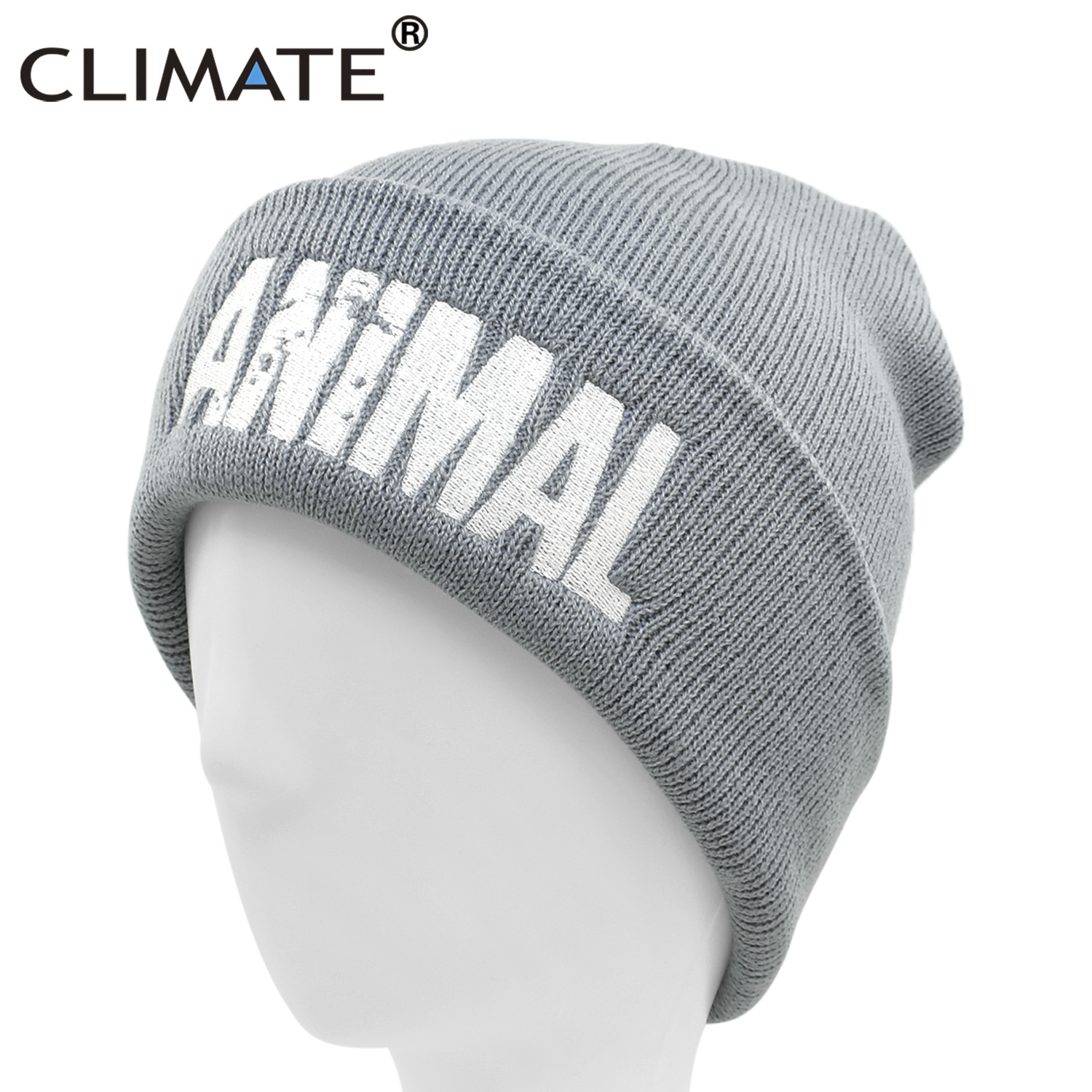 CLIMATE Men Animal Beanie GYM Winter Hat For Men Warm Beanie Fitness Winter Hats Winter For Man Mens Beanie Animal Logo Fit Hat
