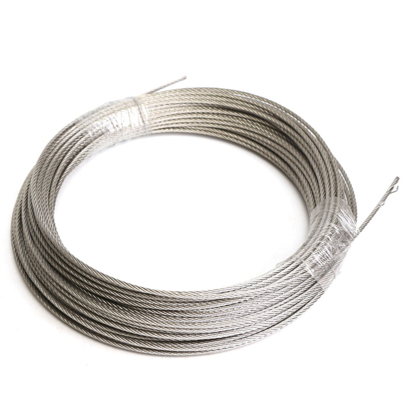 304 Stainless Steel 3mm Diameter Cable Wire Clothes Cable Line Wire Rope Length 30M