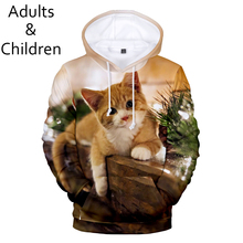 popular 3D Christmas fashion animal Cat men and wom