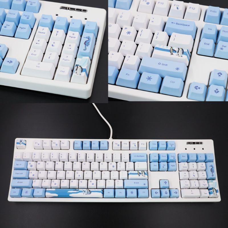 113 Keys Antarctic Penguin OEM PBT Keycaps Mechanical Keyboard Keycaps PBT Dye-Sublimation Keycap Thermal Sublimation