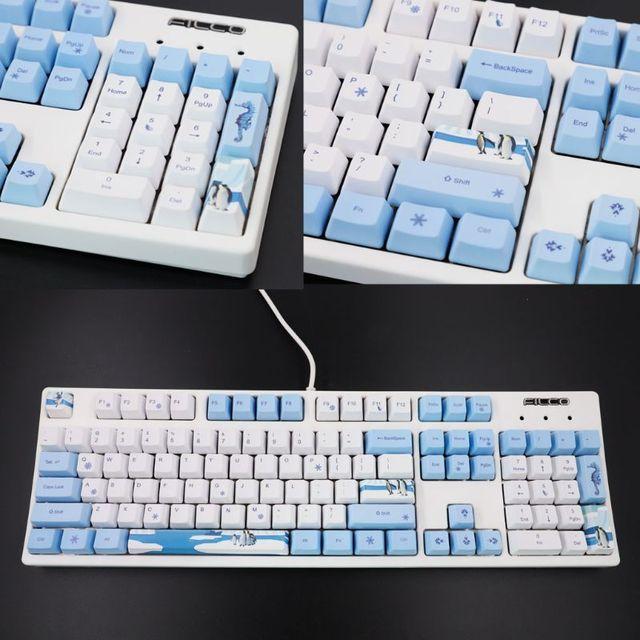 113 Keys Antarctic Penguin OEM PBT Keycaps Mechanical Keyboard Keycaps PBT Dye Sublimation Keycap Thermal Sublimation