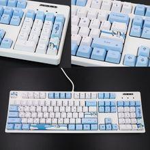 113 مفاتيح البطريق القطبية الجنوبية OEM PBT صبغ التسامي لوحة المفاتيح الميكانيكية