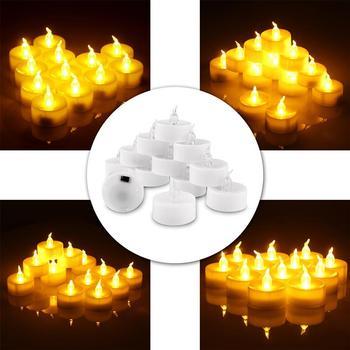 Opakowanie 12 zdalnych lub nie zdalnych świec noworocznych zasilany z baterii podgrzewacze Led podgrzewacze fałszywe światło świec Led świeca wielkanocna tanie i dobre opinie Świeczka led Filar Home decoration Świeca lampy Bezpłomieniowe Other LED candle light