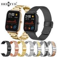 Milanese Band Voor Xiaomi Huami Amazfit Gts Metalen Horlogeband Voor Huawei Horloge GT2 Pro/Amazfit Gtr 42Mm/bip Lite/Gts 2/Mini Strap