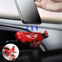 1 adet evrensel araba cep telefonu tutacağı hava firar dağı Mini Cooper Countryman için Clubman R55 R56 R60 F54 F55 F56 F60