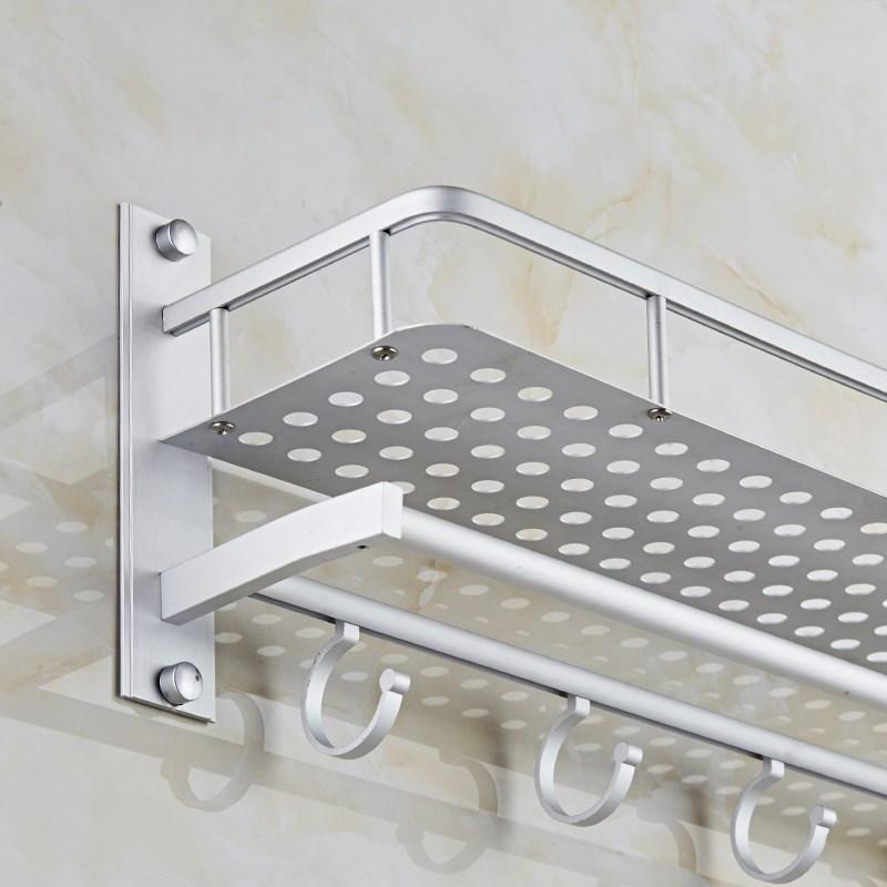 Toilet Bathroom Toilet Storage Shelf-Layer Aluminium Alloy Layer Wall Washbasin Wall Mount Towel Rack
