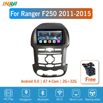 9'' IPS Android 9.0 Car Radio Multimedia For Ford Ranger 2011-2015 F250 GPS Navigation Navi Player Auto Stereo image