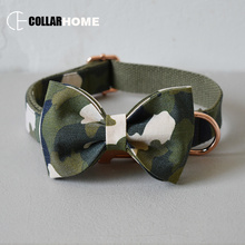 nylon adjustable dog collar leash set with bow tie for big small dogs cotton fabric collar rose gold camouflage element style nylon adjustable dog collar leash set with bow tie for big small dogs cotton fabric collar rose gold christmas decorative gifts