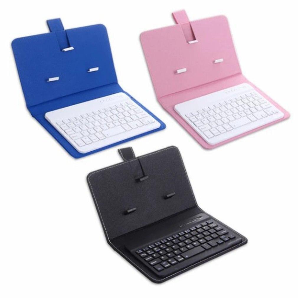 Funda para teclado inalámbrico de teléfono móvil, Funda de cuero Universal para Apple, 4,5-6,8 pulgadas