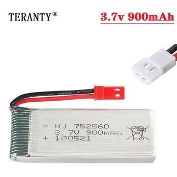 Batería lipo de 900mah, 3,7 V, para 8807, 8807W, A6, A6W, M68, recambios de cuadrirrotor Rc, accesorios para Drones de control remoto, batería de 3,7 v, 752560, 1-20 piezas