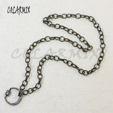 3 strand link chain necklace pendants necklace Moon bolt clasp open chain accessories for women jewels gift for lady 5846