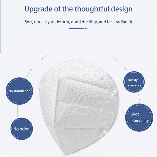10PCS Protective Mask for Men Women Cotton 4 Layer Disposable Dustproof Face Mouth Masks Anti PM2.5 Influenza Anti Flu Masks