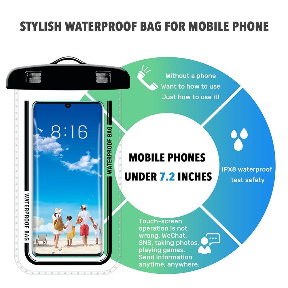Hebf16200b39b464daaf72c8b17376450k - Waterproof Phone Pouch Drift Diving Swimming Bag Underwater Dry Bag Case Cover For Phone Water Sports Beach Pool Skiing 6 inch