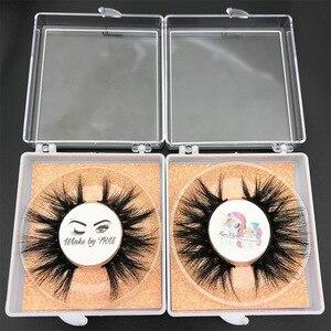Image 4 - Bán buôn đặt hàng 50 cặp/lô logo tự do MIKIWI Hộp Tùy 24 Phong Cách mềm mại kịch tính kẻ Mắt 5D thực chồn tay dày lông mi