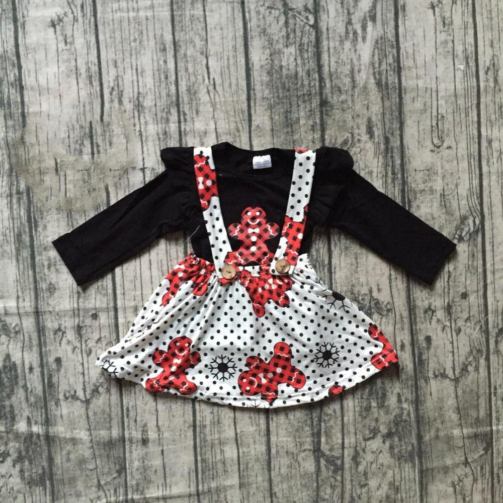 Special Offer Girlymax Christmas Fall/Winter Baby Girls Clothes Children Cotton Boutique Outfits Ruffles Pants Set Skirt 2