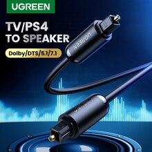 Ugreen 디지털 광 오디오 케이블 Toslink 1m 3m SPDIF 동축 케이블 (앰프 용) 블루 레이 플레이어 Xbox 360 사운드 바 광섬유 케이블