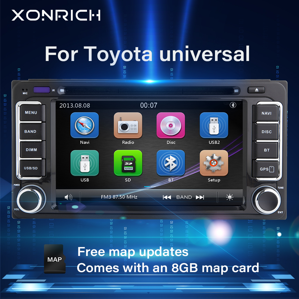 2din GPS Car DVD Multimedia For Toyota Land Cruiser 100 200 Prado 120 150 Rush Corolla Hiace Yaris Hilux 4 runner Radiohead unit image