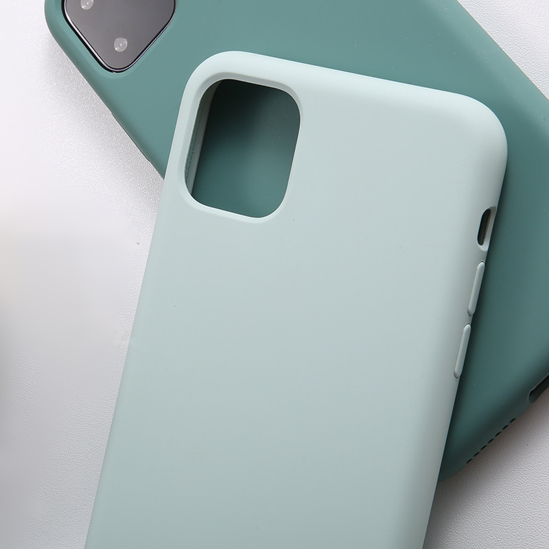 Pine Green Official <font><b>Original</b></font> Liquid Silicone Phone <font><b>Cases</b></font> For <font><b>iPhone</b></font> 11 Pro Max <font><b>Case</b></font> Luxury For <font><b>iPhone</b></font> 11 X XS XR 6 6S 7 <font><b>8</b></font> Plus image