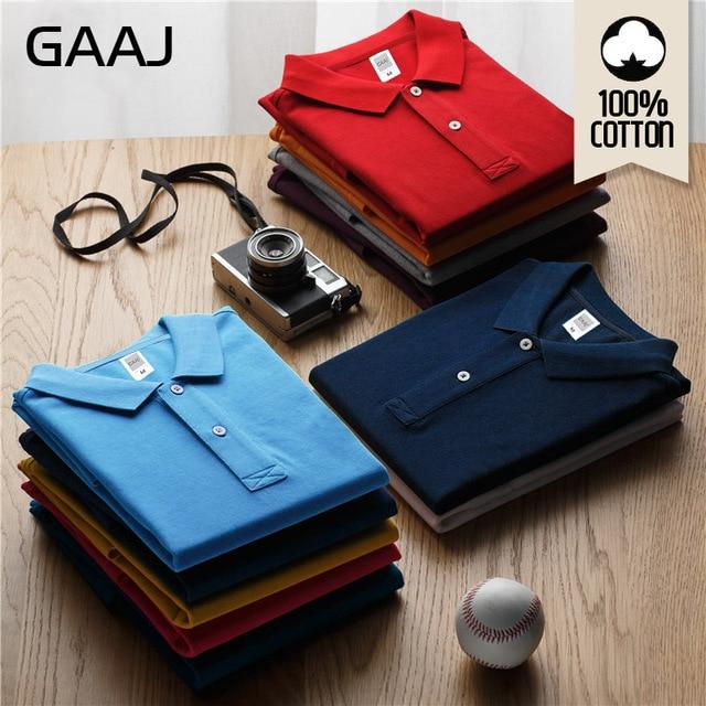 GAAJ 100 Cotton Polo Shirt Men 2021 Brand Shirts For Man Short Sleeve Summer Fashion Clothing Wine Blue Grey Red Navy Mens Polos 1