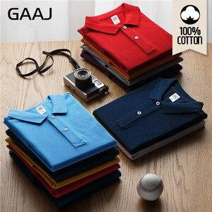 Image 1 - GAAJ 100 כותנה חולצת פולו גברים 2020 מותג חולצות לגבר קצר שרוול קיץ אופנה בגדי יין כחול אפור אדום חיל הים Mens Polos