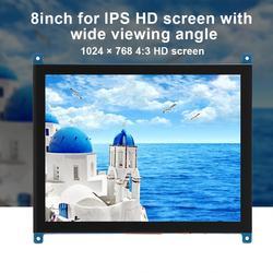 Demo Board Accessoires Voor Raspberry Pi 4B/3B 8-Inch 4:3 1024X768 Hd Hoogtepunt Voor Ips capacitieve Touchscreen Met Brede