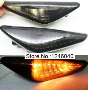 Image 4 - 2PCS LED Dynamic Side Marker Turn signal repeater light indicator Flowing Flash fit for BMW X3 X5 X6 E70 E71 2008 2014 E72 F25