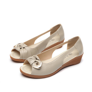 Image 5 - GKTINOO Genuine Leather Sandals Women Flats Solid Casual Women Shoes Flat Summer Sandals Women vintage Sandalias Mujer Big Size