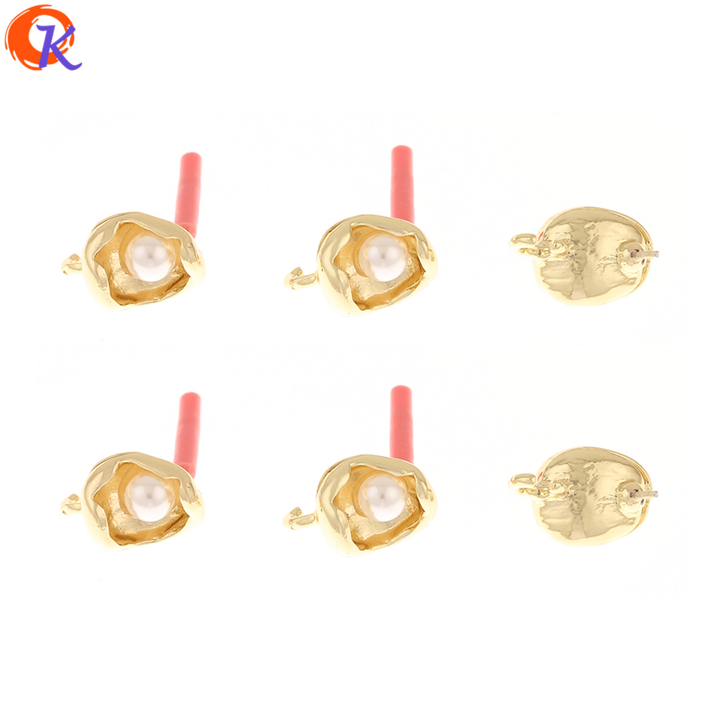 Cordial Design 100Pcs 10*15MM Jewelry Accessories/Earrings Stud/Imitation Pearl/Hand Made/Earring Findings/DIY Jewelry Making