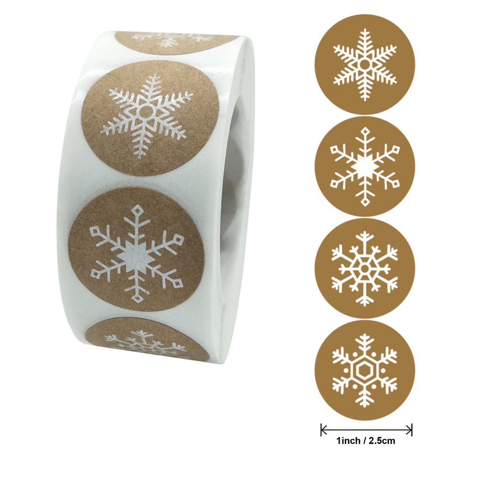 50-500pcs Christmas Gift Decoration Sticker Package Kraft Stickers 6