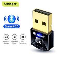 Essager – Adaptateur clé usb sans fil Bluetooth 5.0 pour divers appareils, à utiliser pour l'ordinateur, la souris, le clavier, la PS4 Aux, et le transmetteur Audio