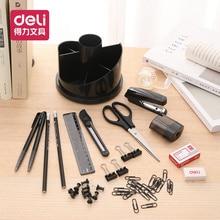 Deli Office Supplies Rotating Desk Storage Box 17 Piece Set Office Desktop Organizer Stationery Accessories