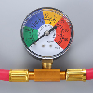 Image 2 - Low Side R1234yf Quick Coupler Refrigerant Recharge Hose Kit Pressure Gauge Can Opener Quick Coupler