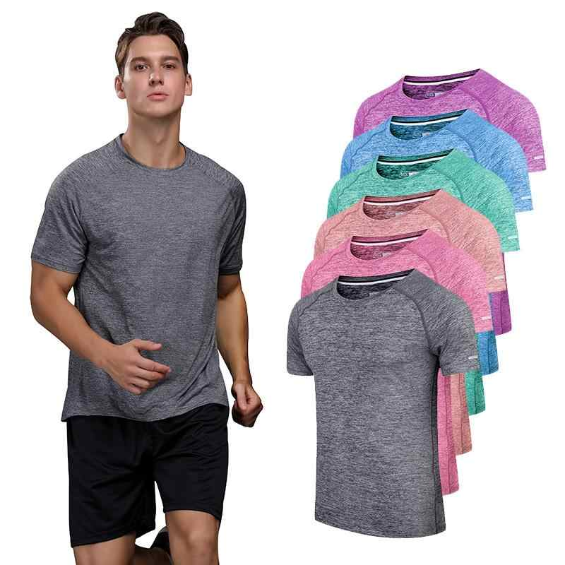 2019 Fitness Shirt Sports T-Shirt Men's Fitness Shirt High Performance Men's Training Shirt Short Sleeve T-Shirt Sports T-Shirt