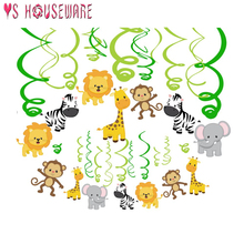 Jungle Animal Birthday Party Disposable Tableware Forest Friends Safari Zoo Theme Paper Cup Plate Baby Shower Supplies