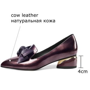Image 4 - Allbitefo borboleta nó couro genuíno nova moda de salto alto casual menina alta sapatos de salto grosso venda quente sapatos plataforma feminina
