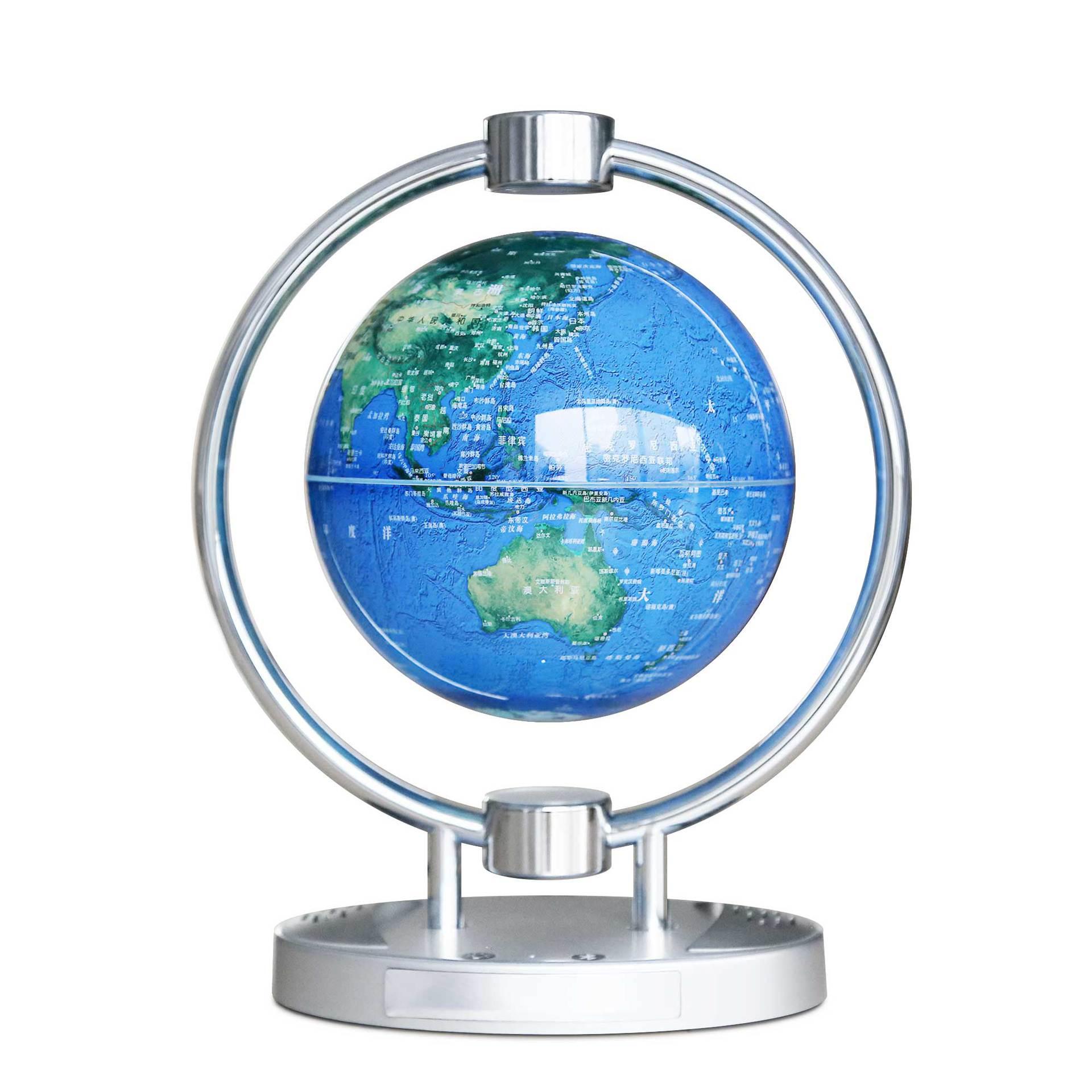 Магнитный левитационный Плавающий глобус, 6 антигравитационная карта мира Созвездие спиннинг шар с сенсорным управлением светодиодный светильник, креативный - 2