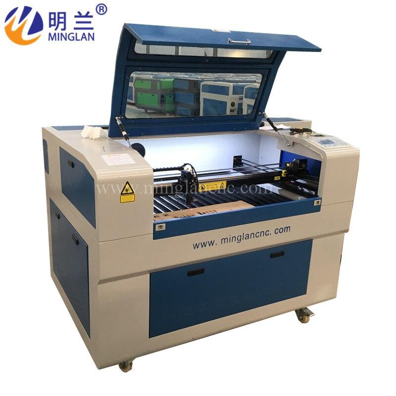 ML-6090J No Tax For EU Reci 100W Laser Cutting Engraving Machine Ruida6445 DSP 1060 CW5000 Chiller