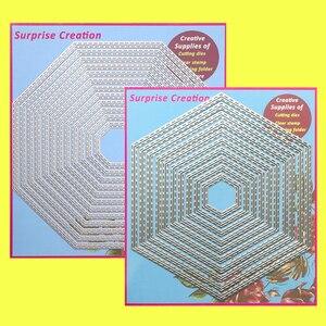 Image 1 - 2 Set Large Cutting dies Stitched Octagon & Hexagon Cardmaking Scrapbook Paper Craft DIY Metal Stencil Surprise Creation dies