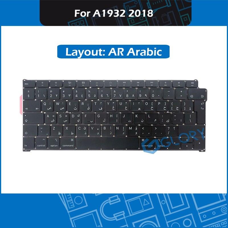 New A1932 Keyboard AR Arabic Layout Big Enter key For font b Macbook b font Air