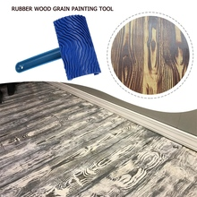Wood Pattern Rubber DIY With Handle Wood Grain Brush Paint Tool Wood Grain Effect Wall Decoration Tool