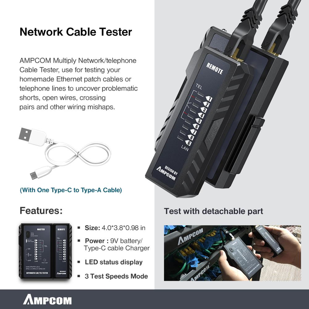 cheapest Network Tool Kit AMPCOM 12 in 1 Professional Portable Ethernet Computer Maintenance LAN Cable Tester Repair Set