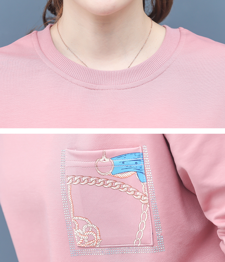 2019 Autumn Printed Sport Korean Two Piece Sets Outfits Women Plus Size Sweatshirt And Pants Suits Casual Fashion 2 Piece Sets 53