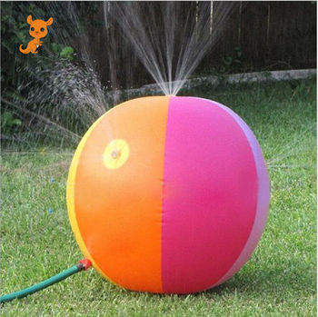 Hot Kids Toddlers Outdoor Summer Toy Inflatable Sprinkler Lawn Beach Water Spray Ball for Enjoy Funny Cooler