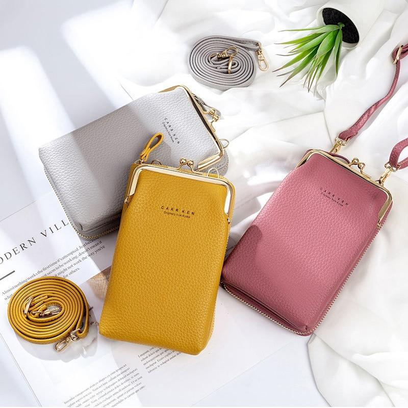 Women Phone Bag Solid Crossbody Bag 2