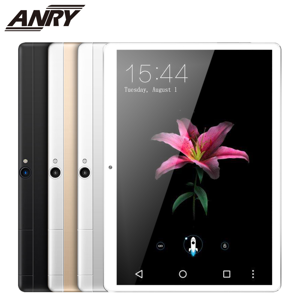 ANRY Android Tablets MTK8732 Octa Core 10.1 Inch Dual Sim Tablet PC Android 7.0 GPS Wifi 4G Phone Call Tablet Black/Gold/Silver