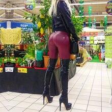 Эксклюзивные прямые брюки melody лакированные кожаные леггинсы